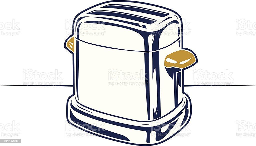 retro steel toaster icon vector art illustration