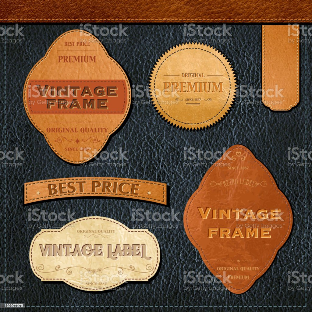 Retro styled labels vector art illustration