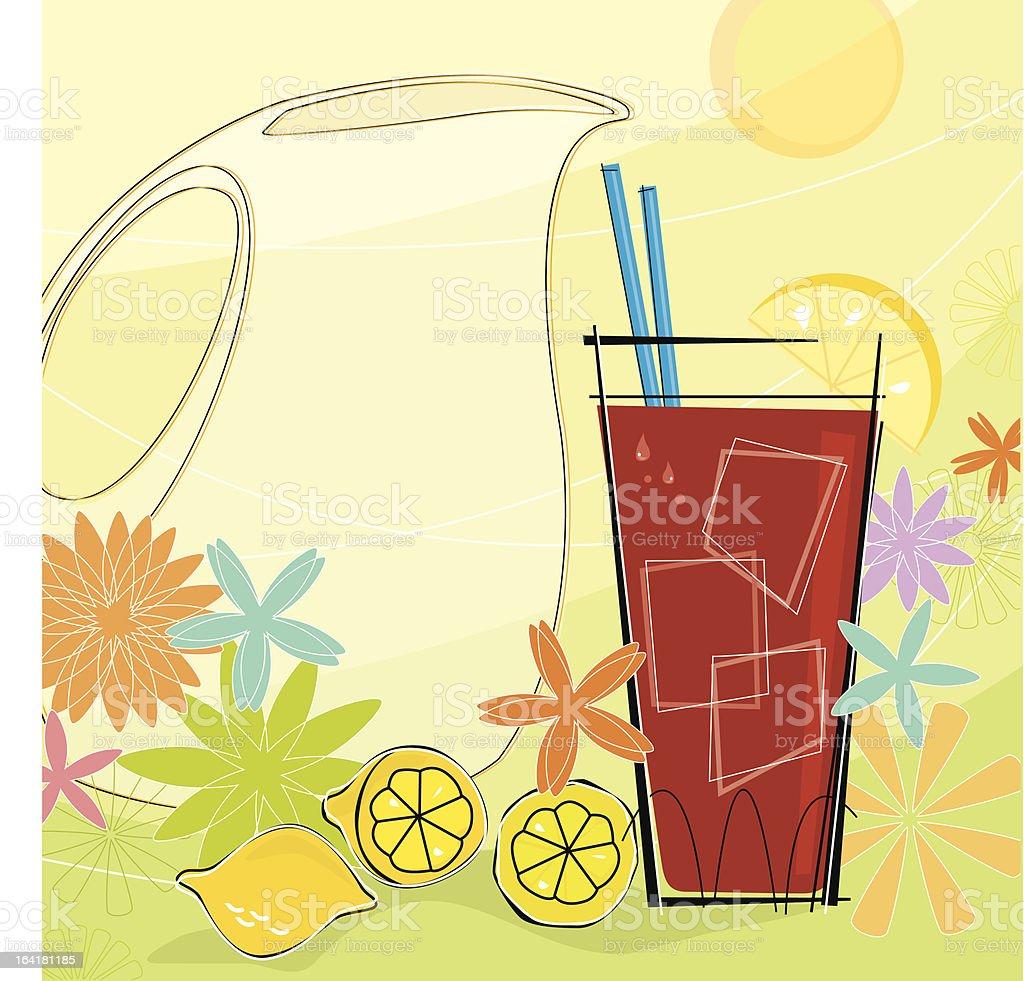 Retro Summer Refreshment (Vector) vector art illustration