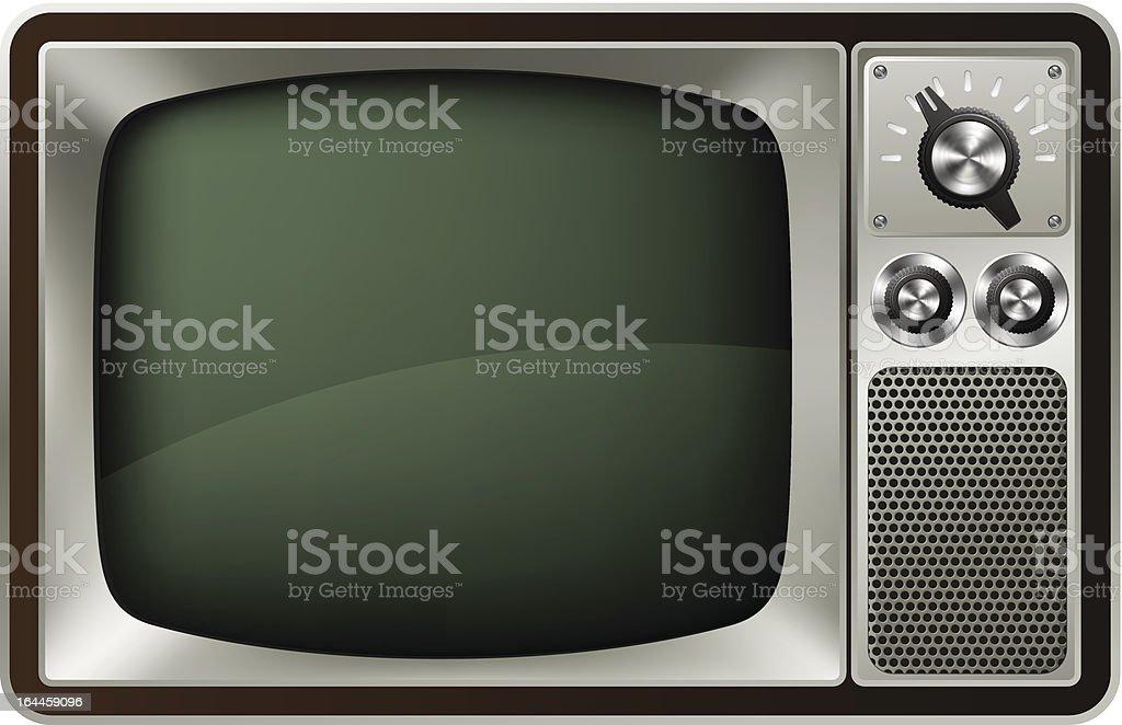 Retro TV Illustration royalty-free stock vector art