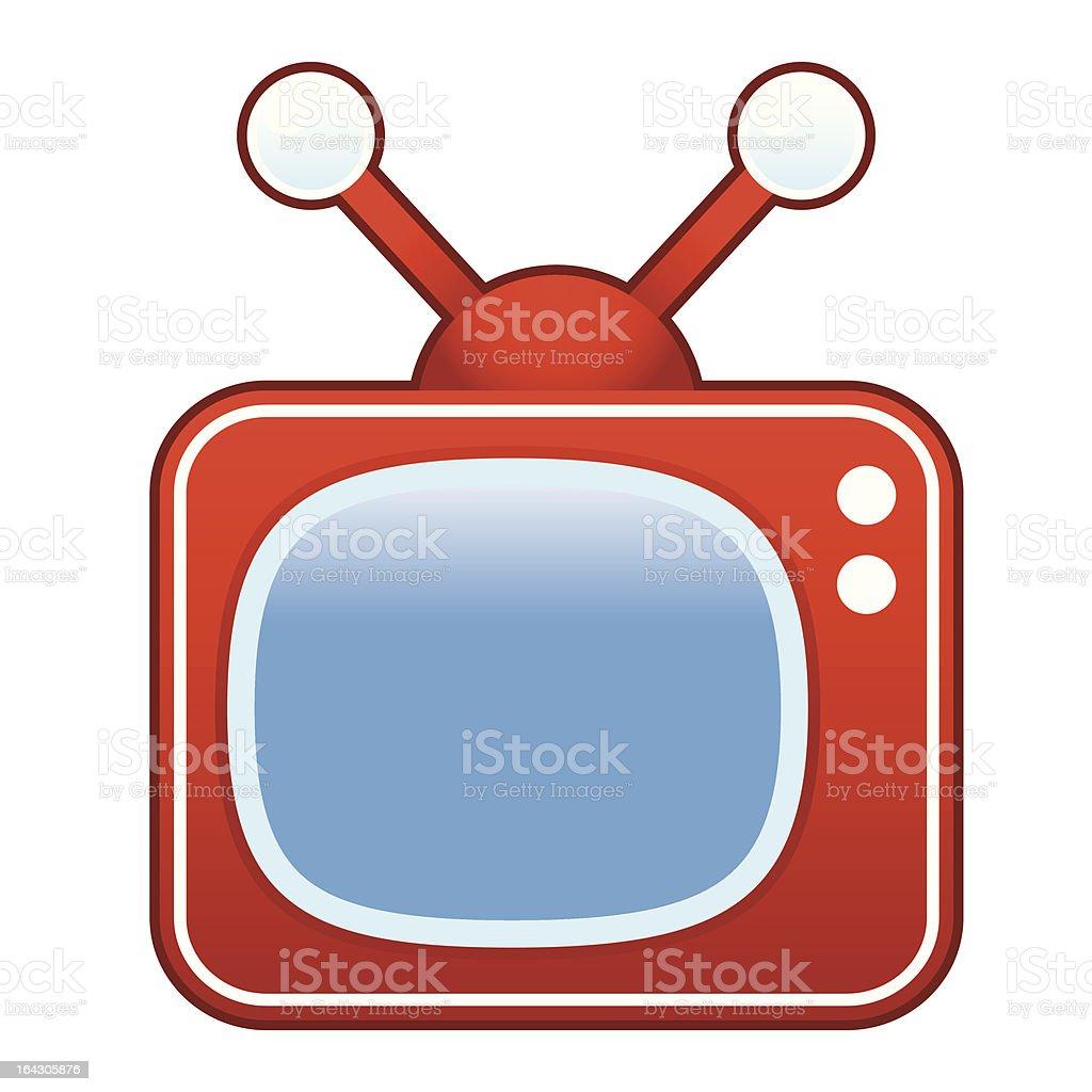Retro TV set vector art illustration