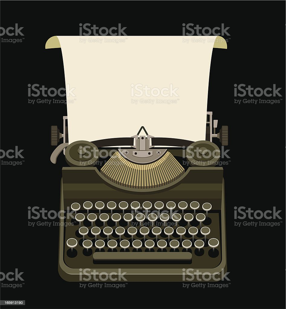 Retro typewriter royalty-free stock vector art