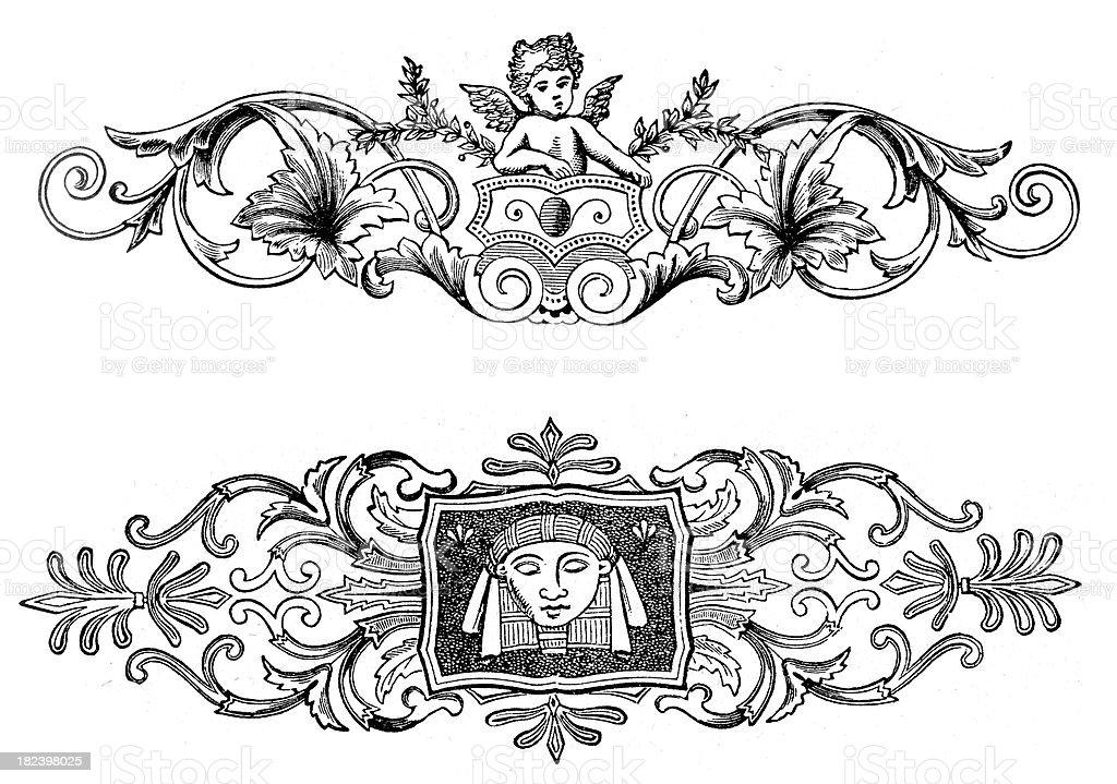 Retro Vintage Design Elements royalty-free stock vector art