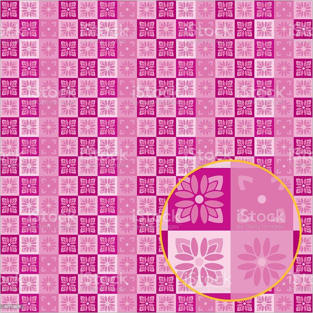 Retro Wallpaper Series Flora royalty-free stock vector art