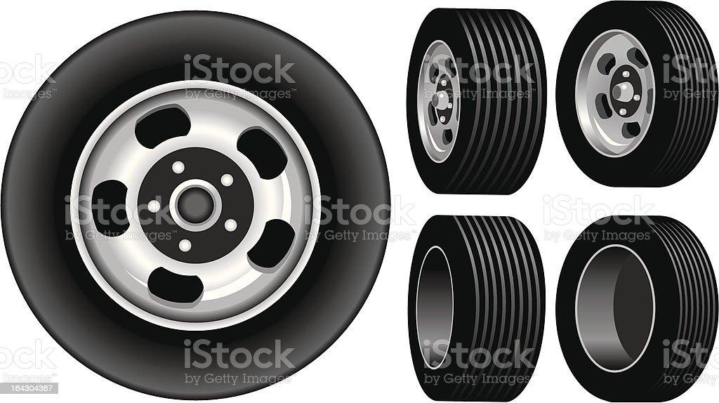 Retro wheels royalty-free stock vector art