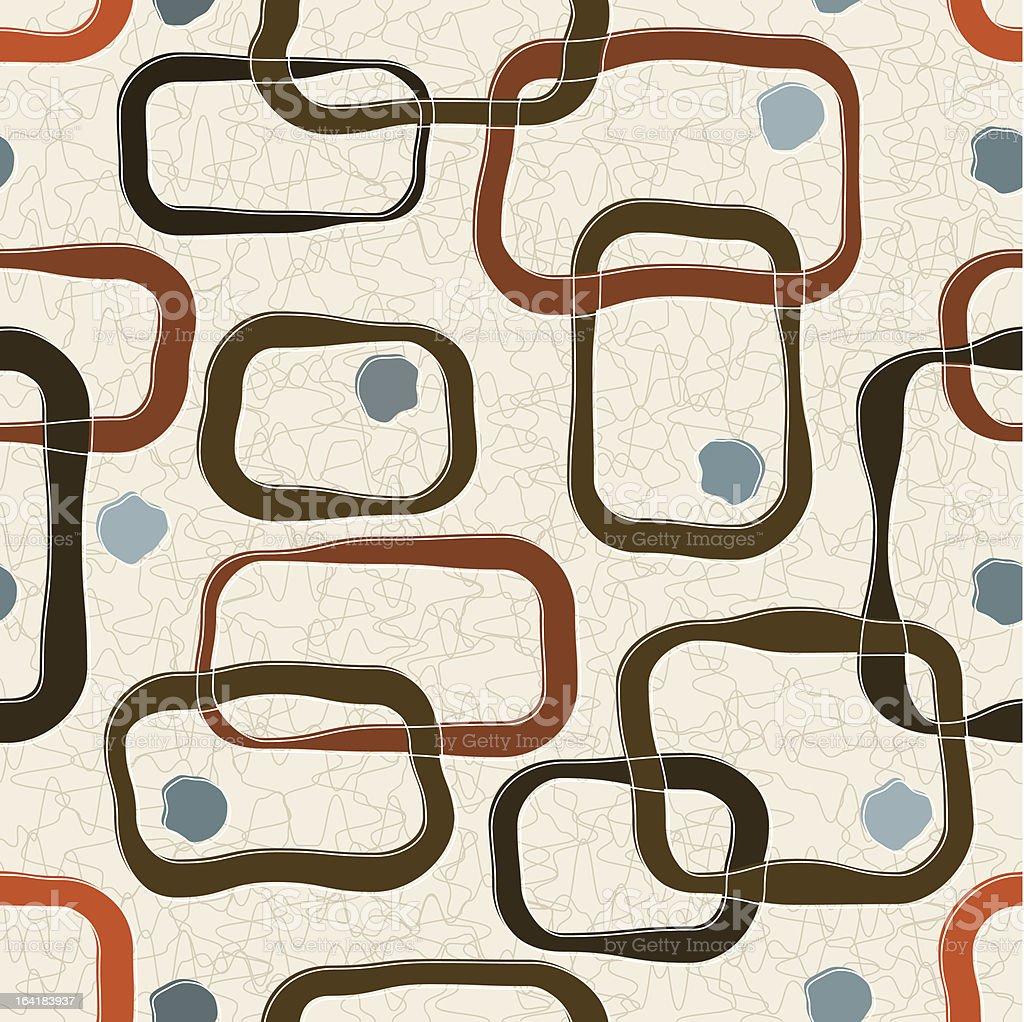 Retro-stylized Square Background, Seamless vector art illustration