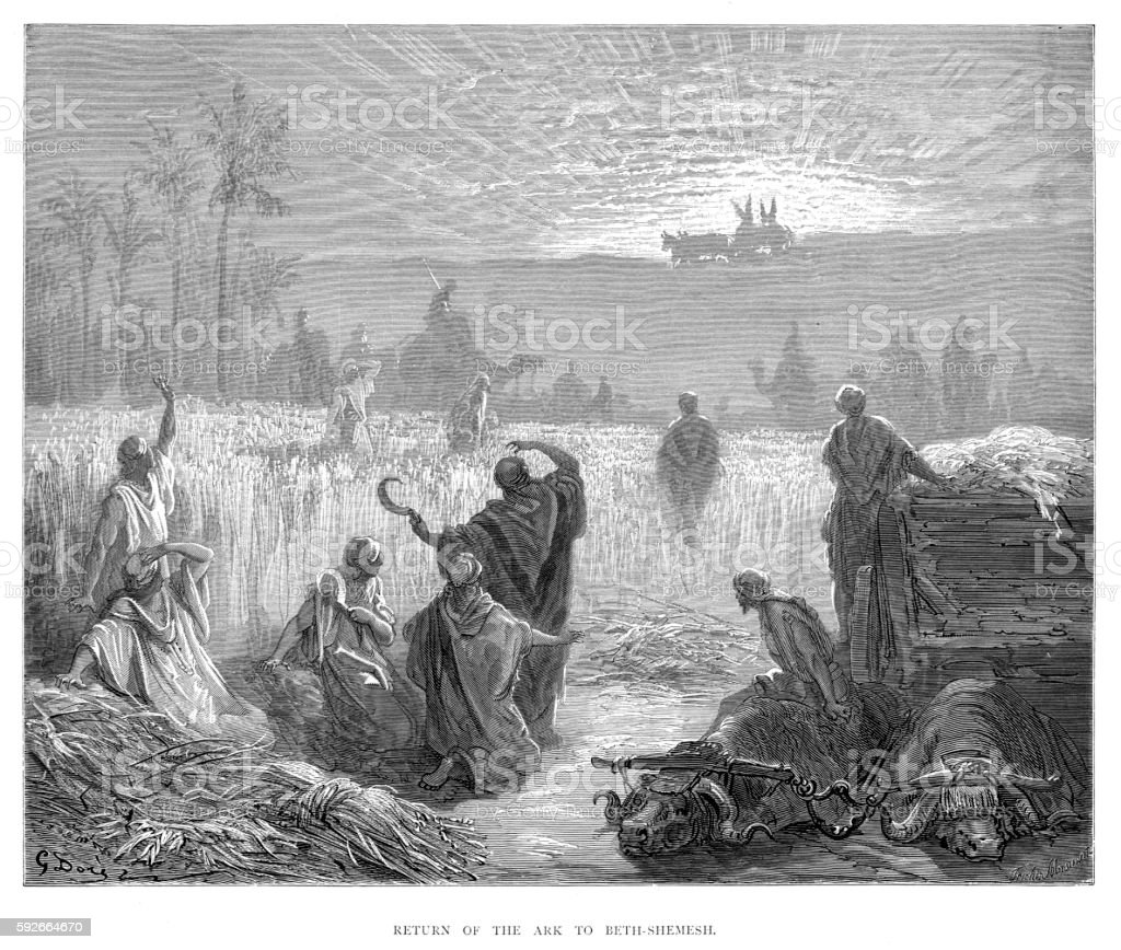 Return of the ark 1870 vector art illustration