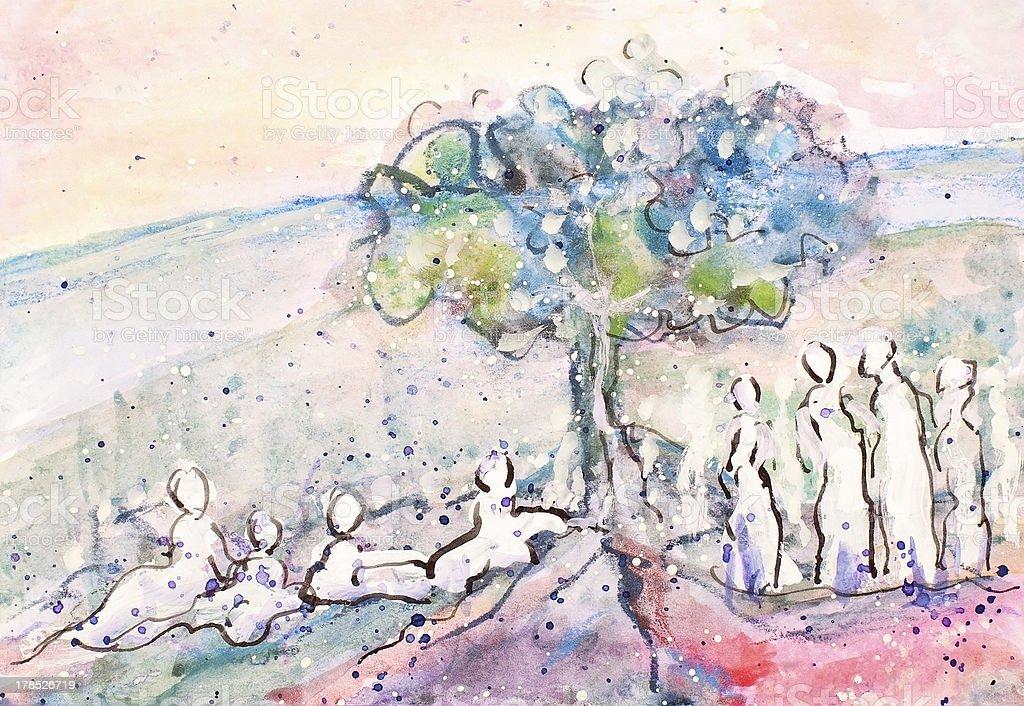 Árbol de reunión illustracion libre de derechos libre de derechos