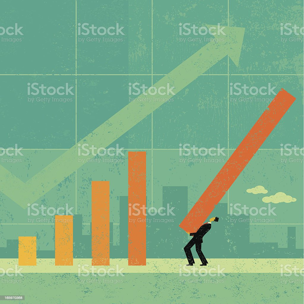Revenue Projection royalty-free stock vector art
