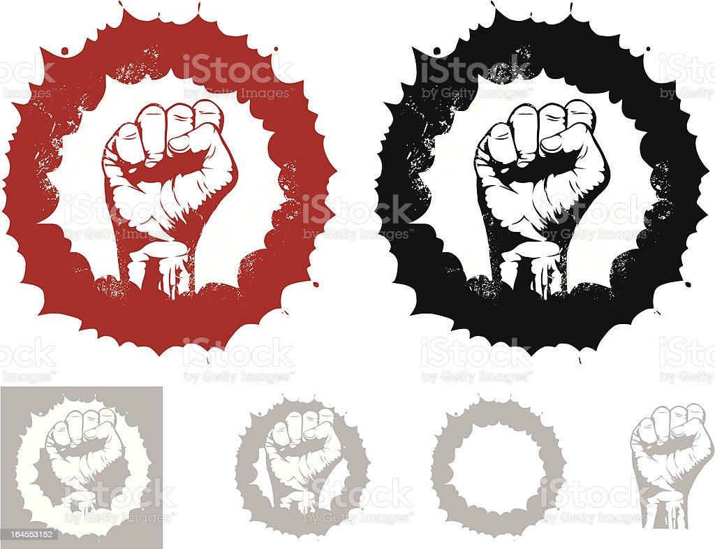 Revolution Fist royalty-free stock vector art