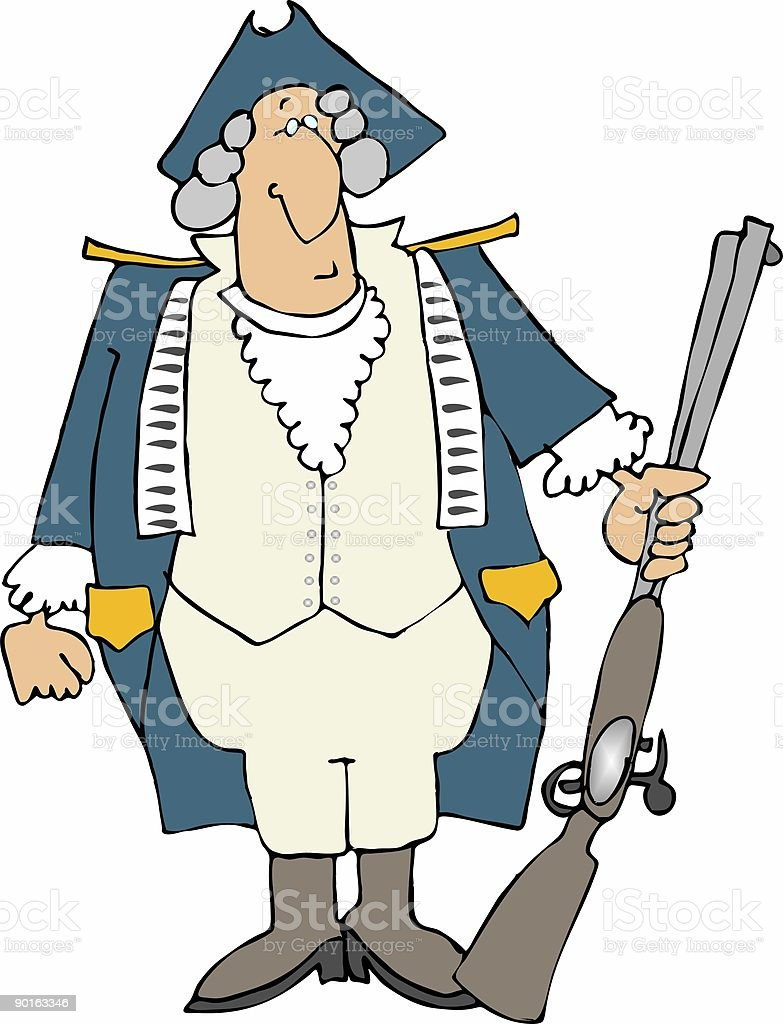 US Revolutionary War Soldier royalty-free stock vector art