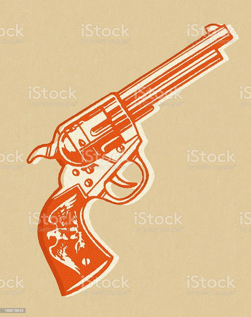 Revolver vector art illustration