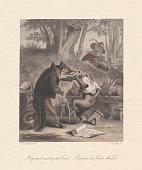 Reynard the Fox teaching the Creed, published c. 1855