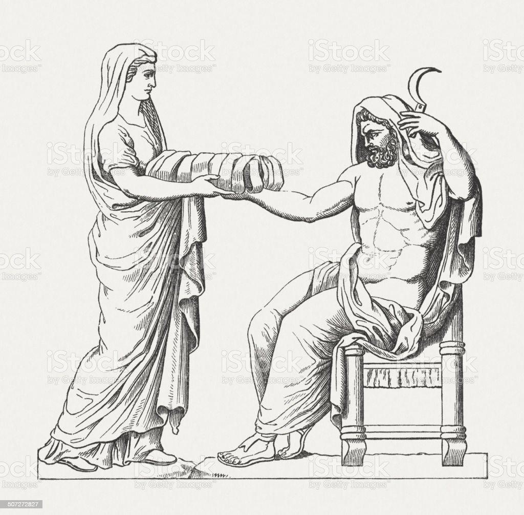 Rhea Presenting Cronus The Stone Wrapped In Cloth Greek
