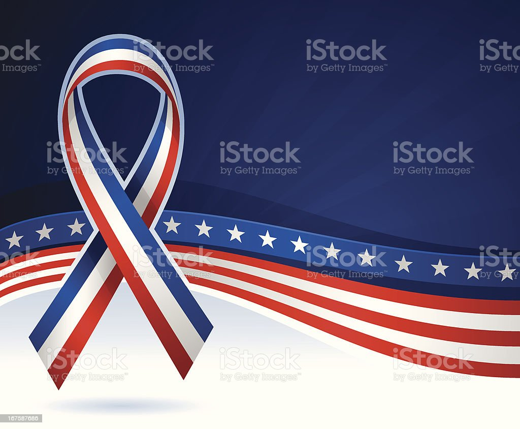 USA Ribbon Background vector art illustration