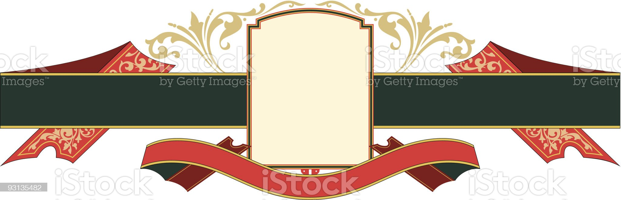 Ribbon Panel - vector royalty-free stock vector art