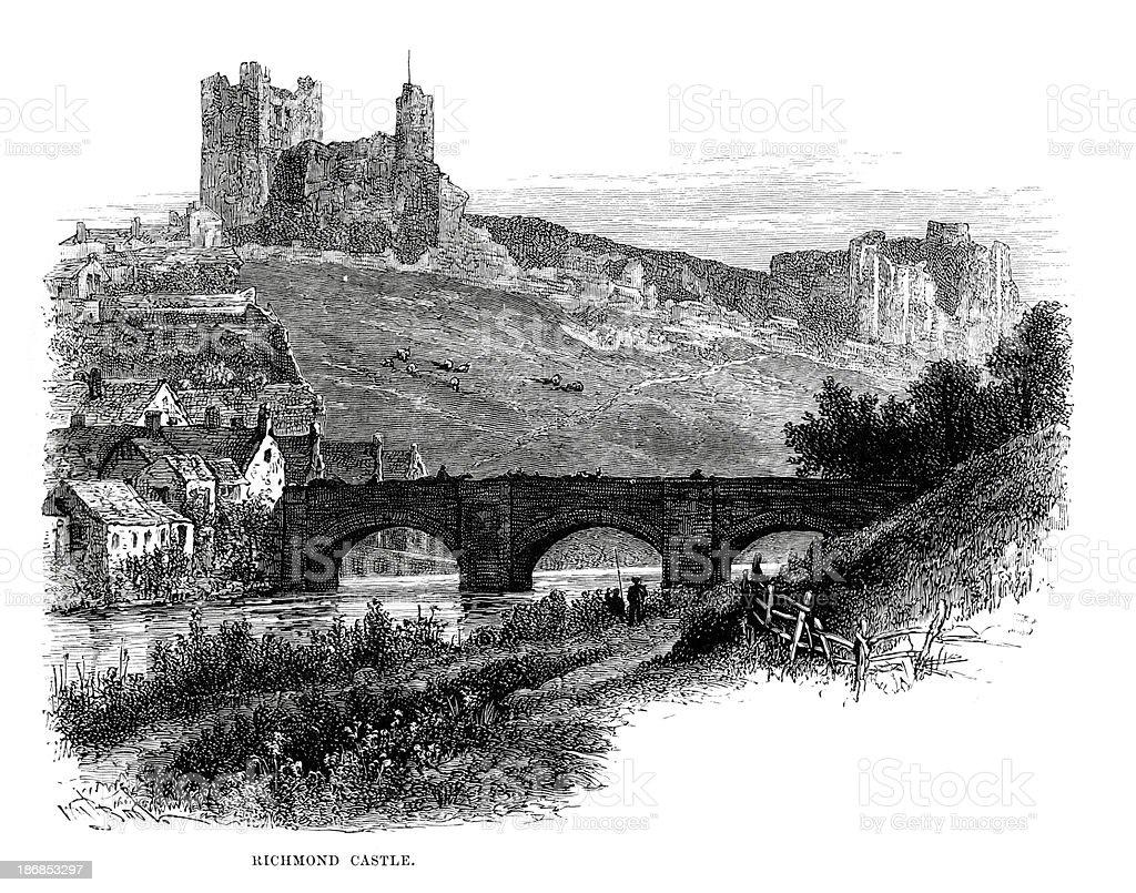 Richmond Castle royalty-free stock vector art
