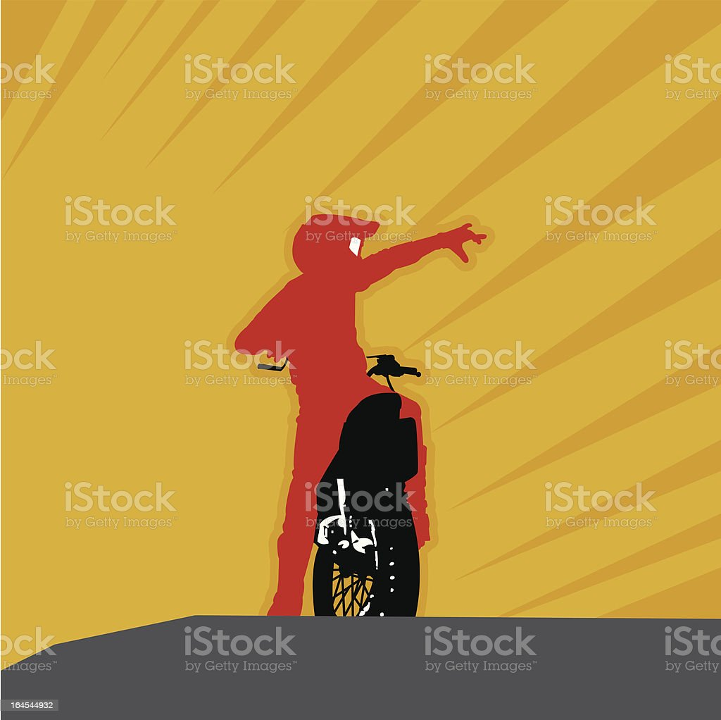 Riders of the sun royalty-free stock vector art