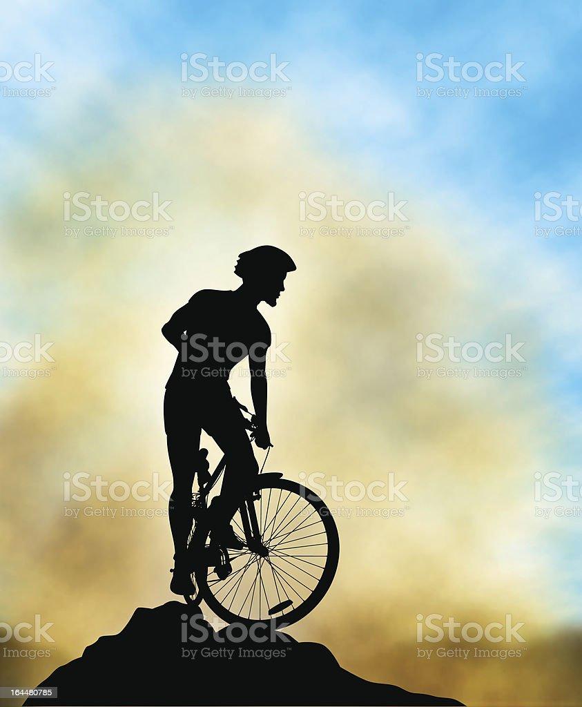 Ridge rider vector art illustration