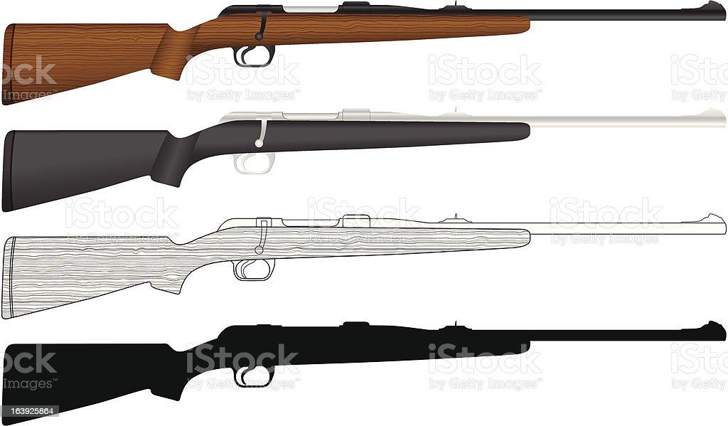Rifle vector art illustration