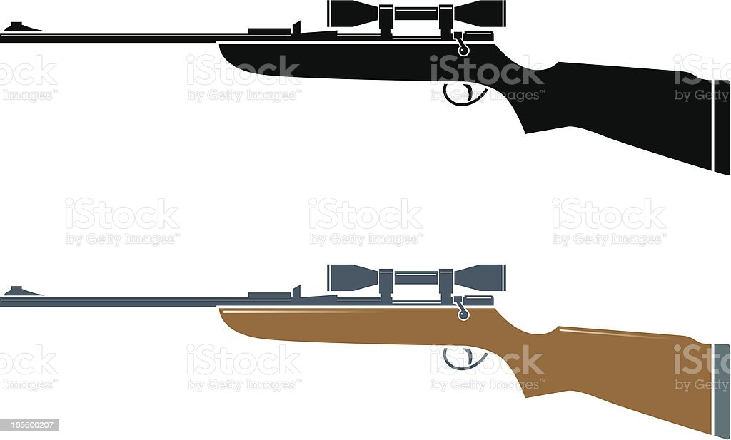 Rifle royalty-free stock vector art
