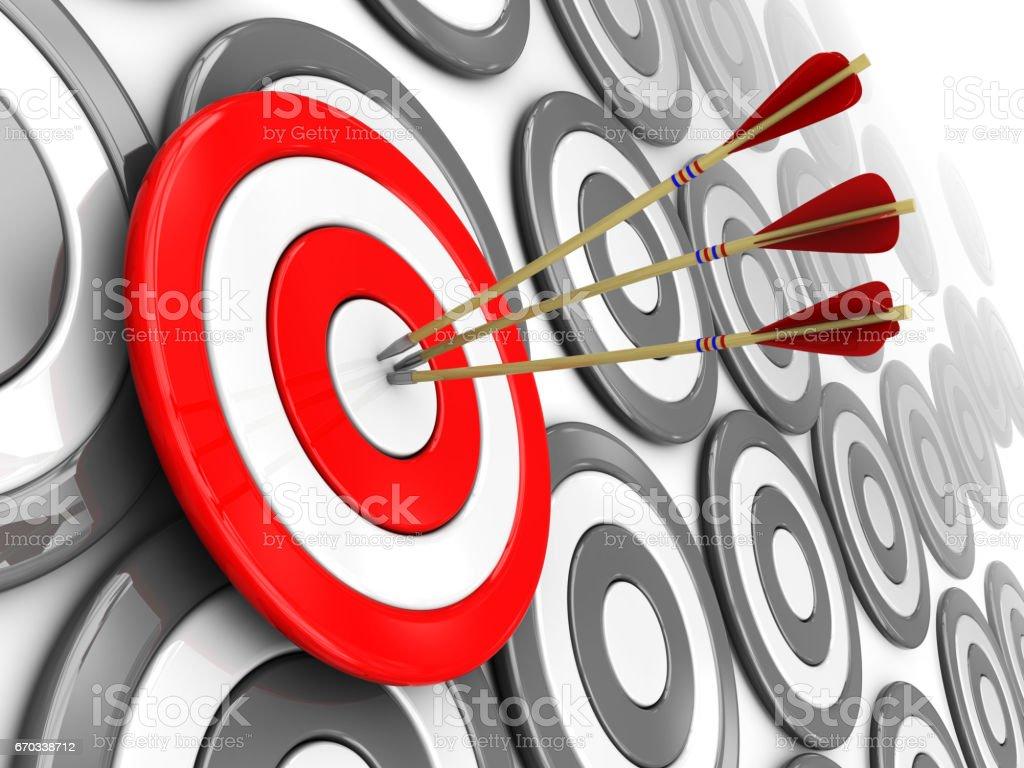 right target vector art illustration