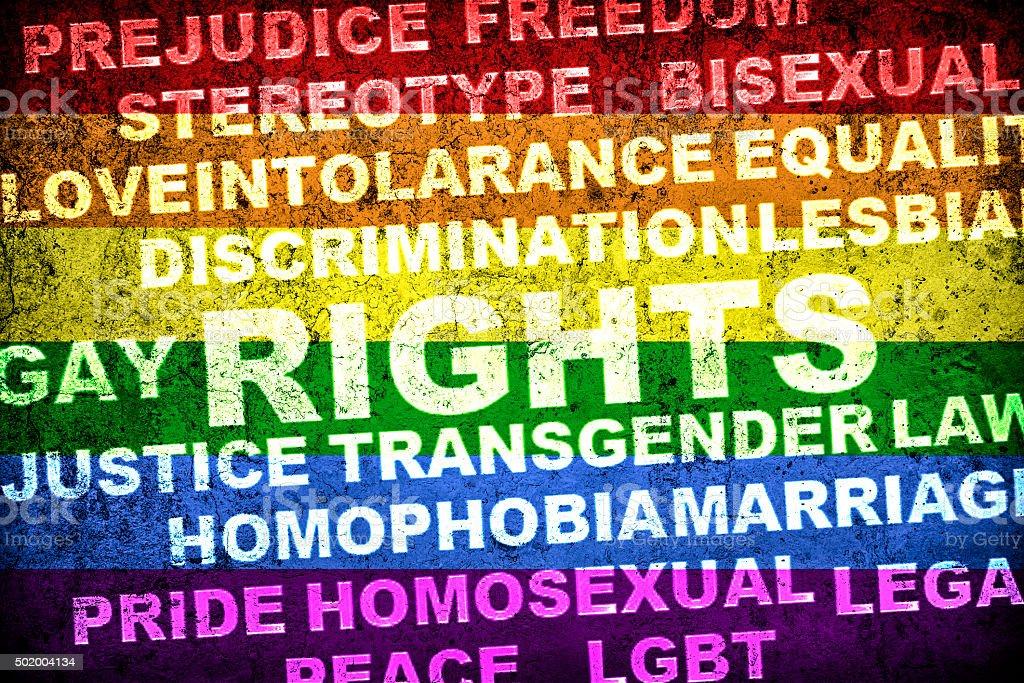 LGBT rights vector art illustration
