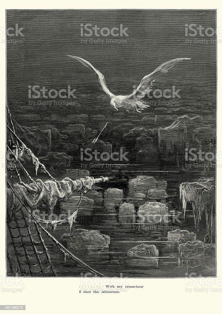 Rime of the Ancient Mariner - I shot Albatross vector art illustration