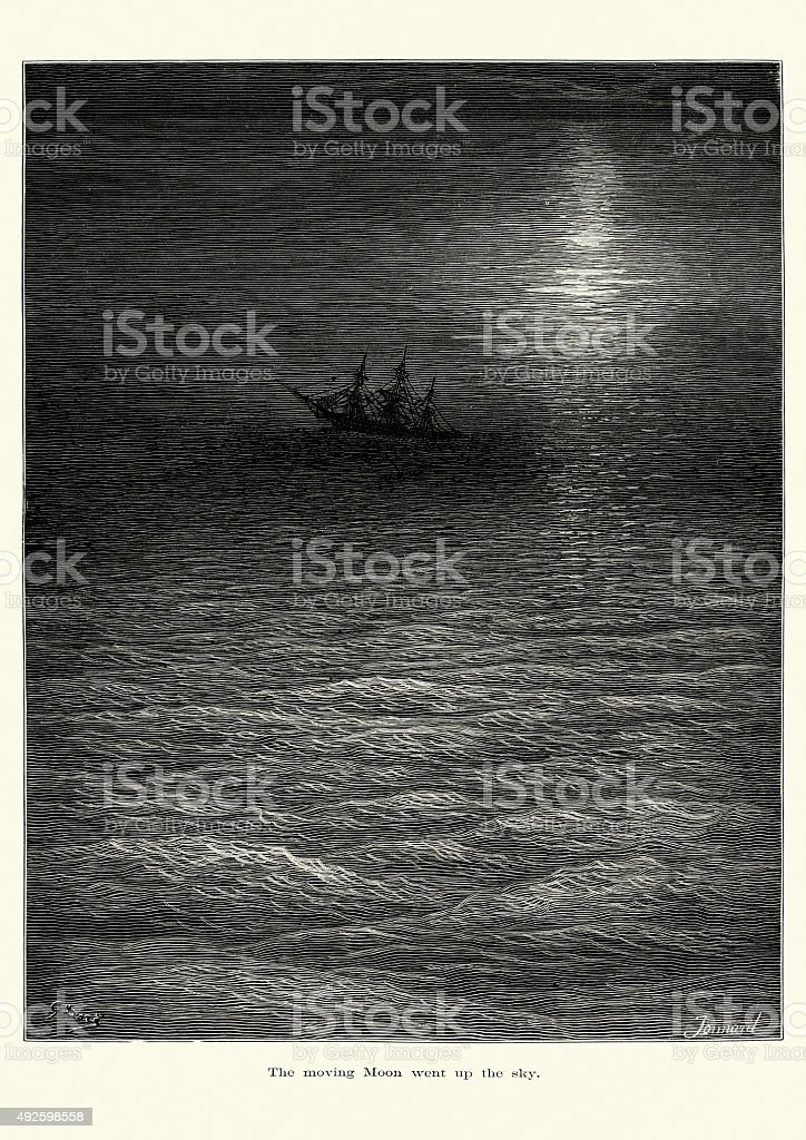 Rime of the Ancient Mariner vector art illustration