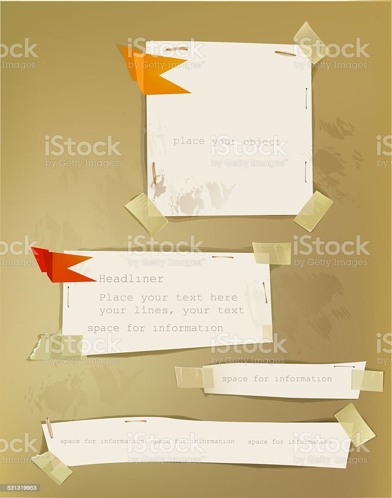 Ripped paper background template vector art illustration