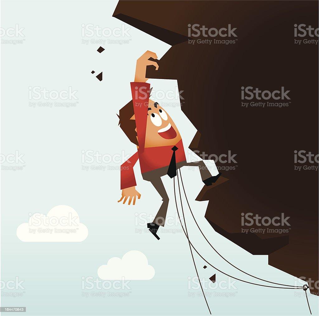 Risk Taking and Hard Work vector art illustration