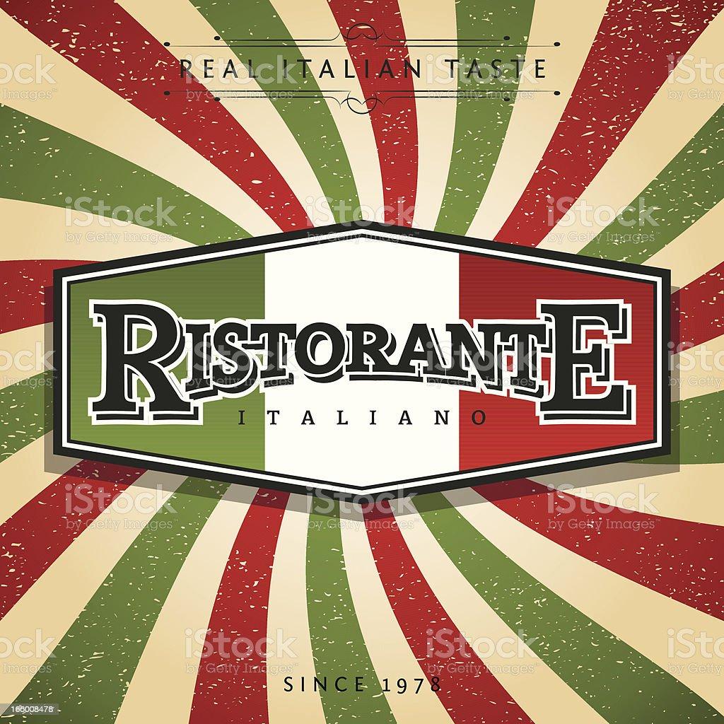 Ristorante Italiano vector art illustration