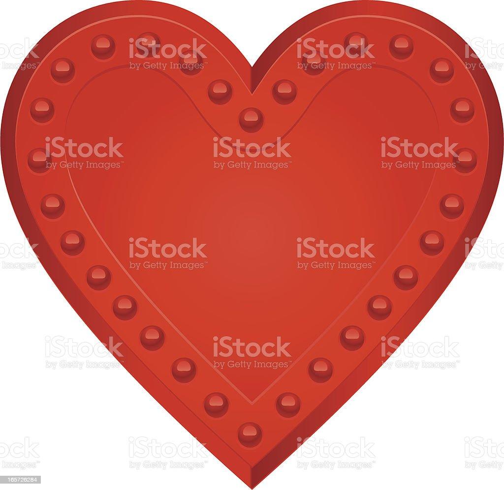 rivet heart vector art illustration