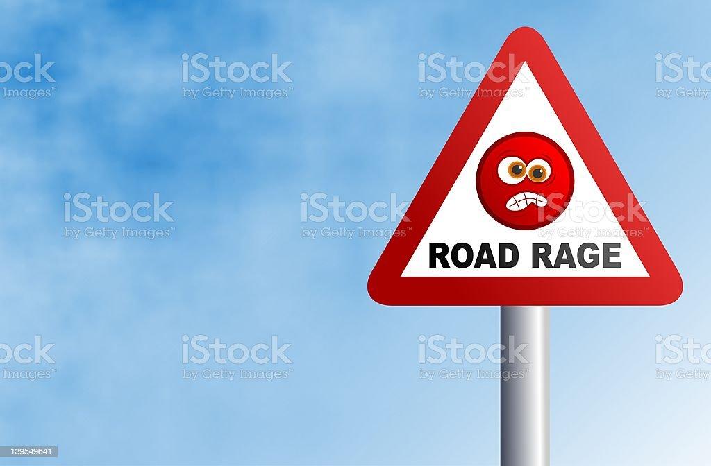 Road Rage royalty-free stock vector art