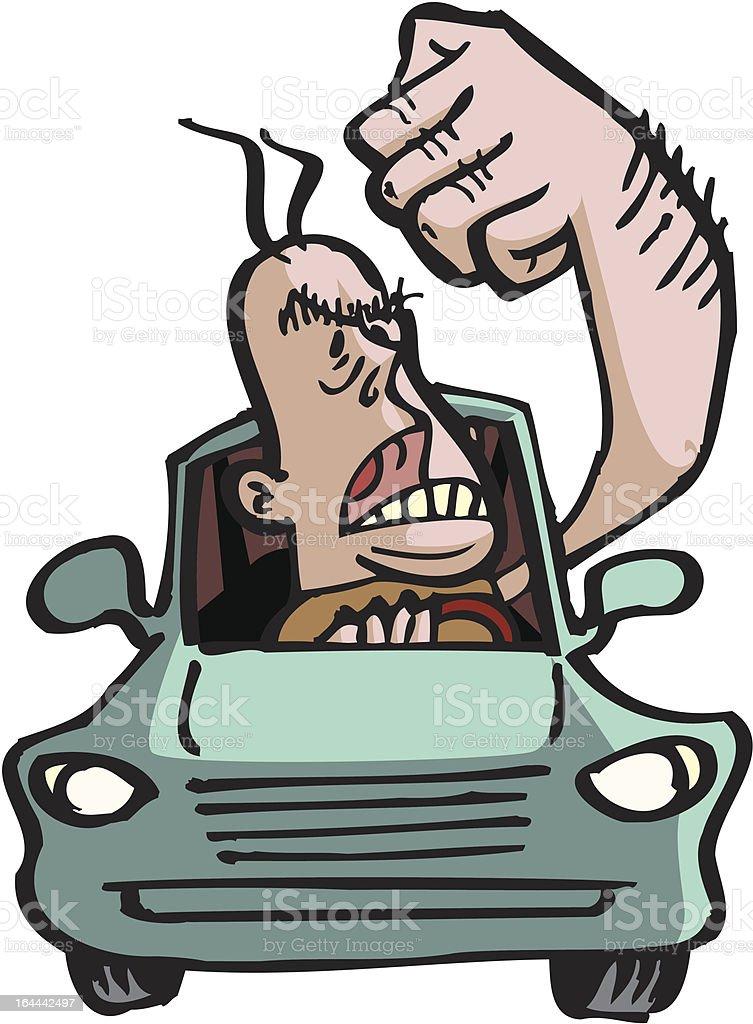 Road Rage Man royalty-free stock vector art