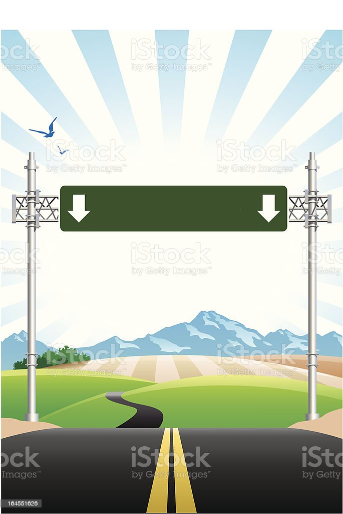 road sign royalty-free stock vector art