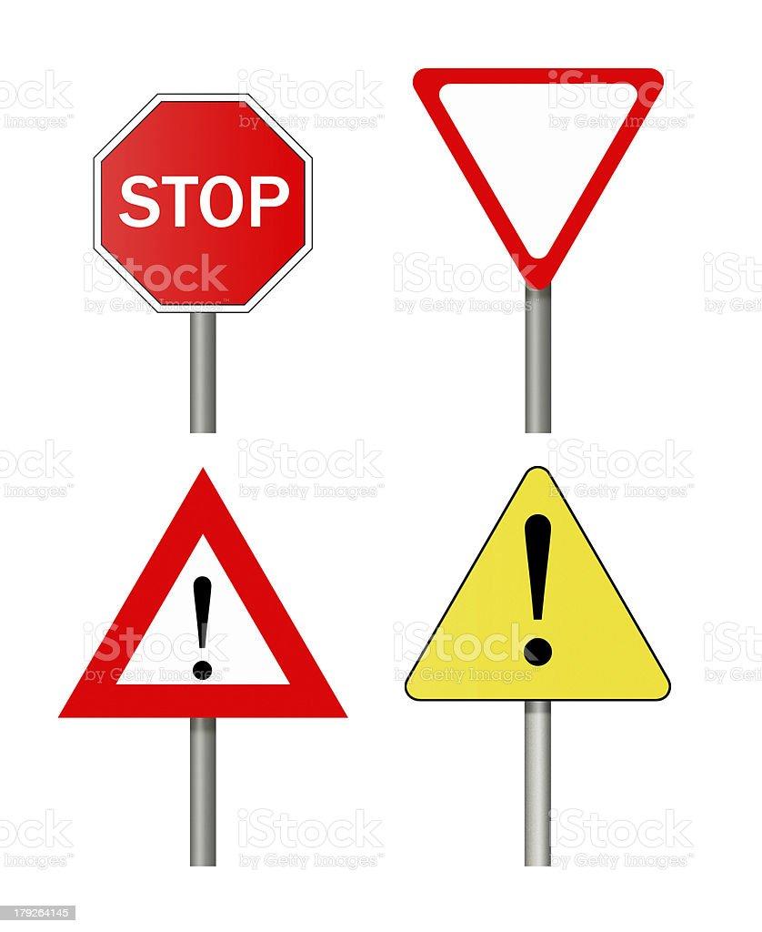 Road sign set. royalty-free stock vector art