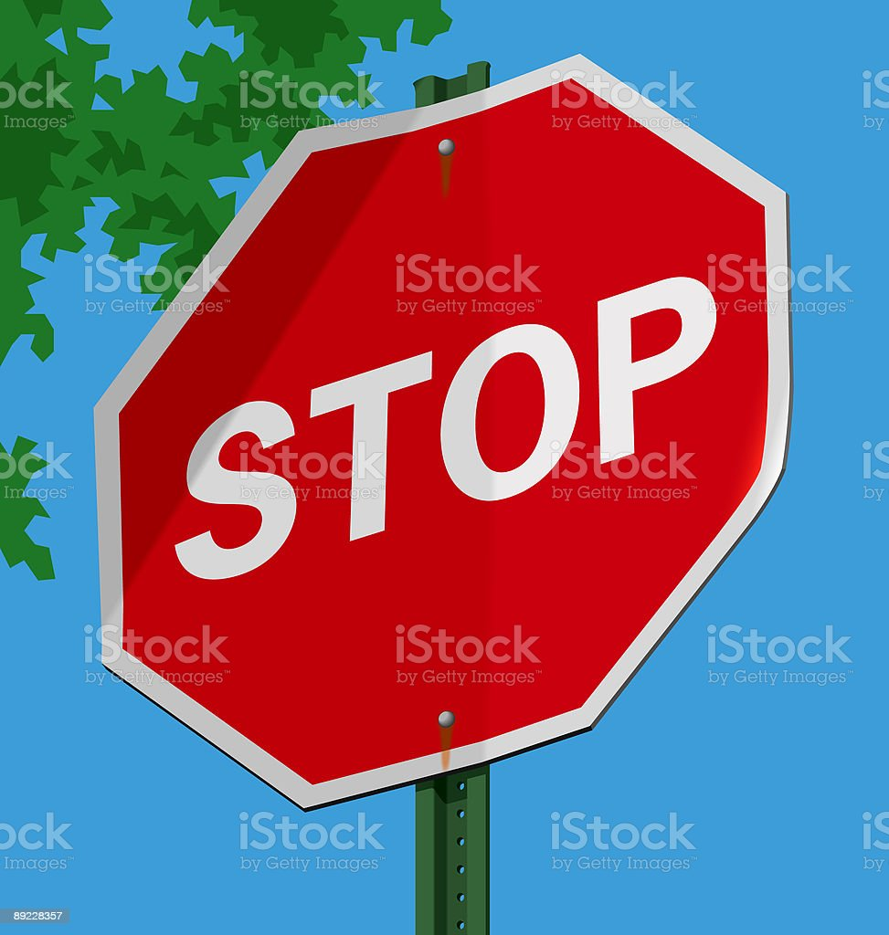Road sign; Stop royalty-free stock vector art