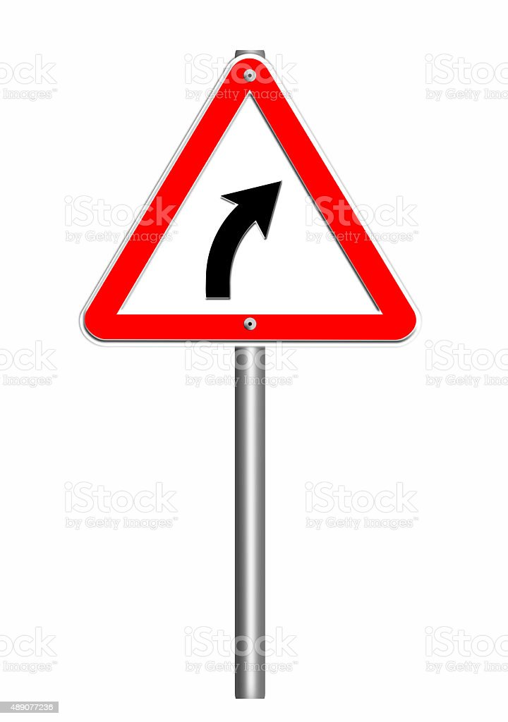 road sign triangle vector art illustration