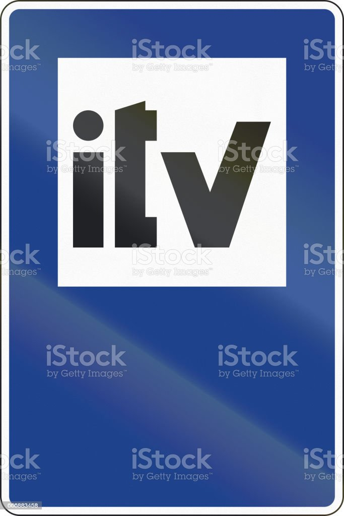 Road sign used in Spain - Technical vehicle inspection stock photo