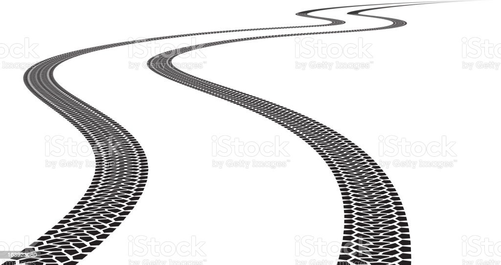 Road Tire Track. royalty-free stock vector art