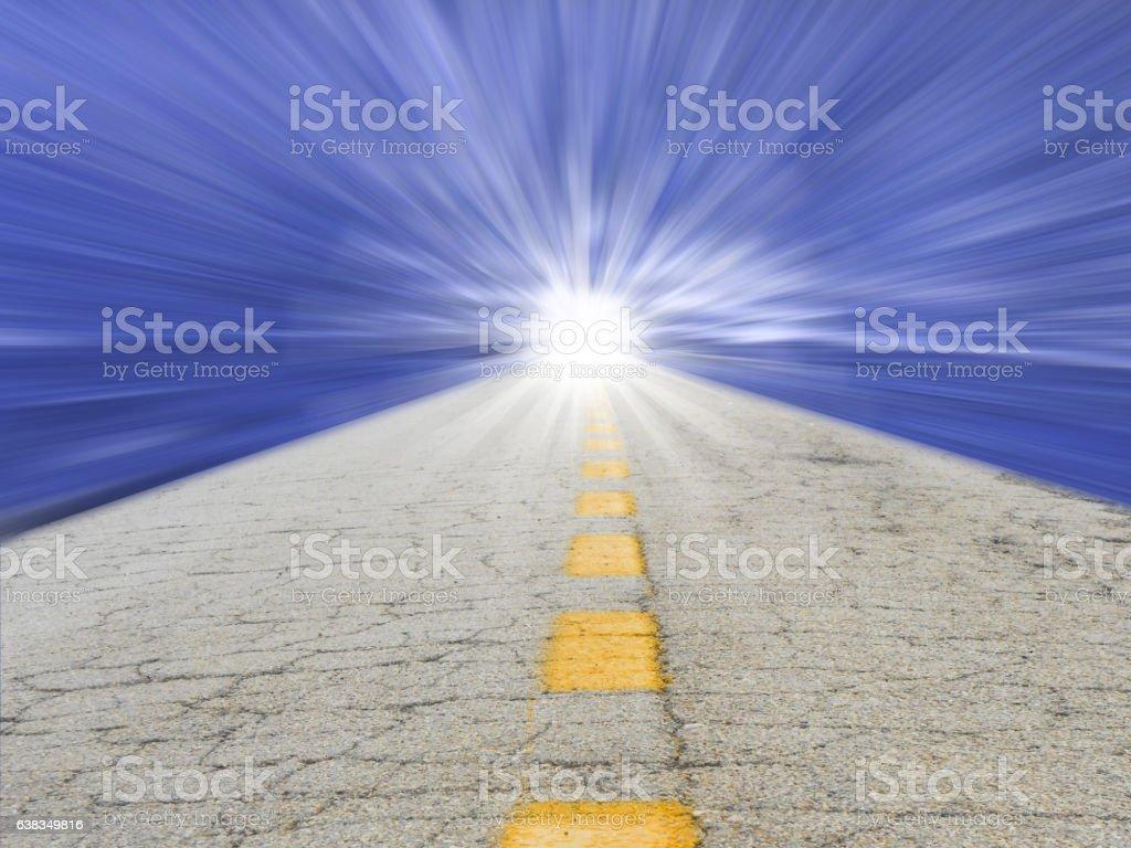 Road to future vector art illustration