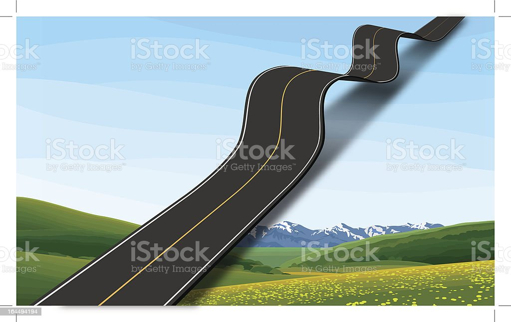 Road to the sky royalty-free stock vector art