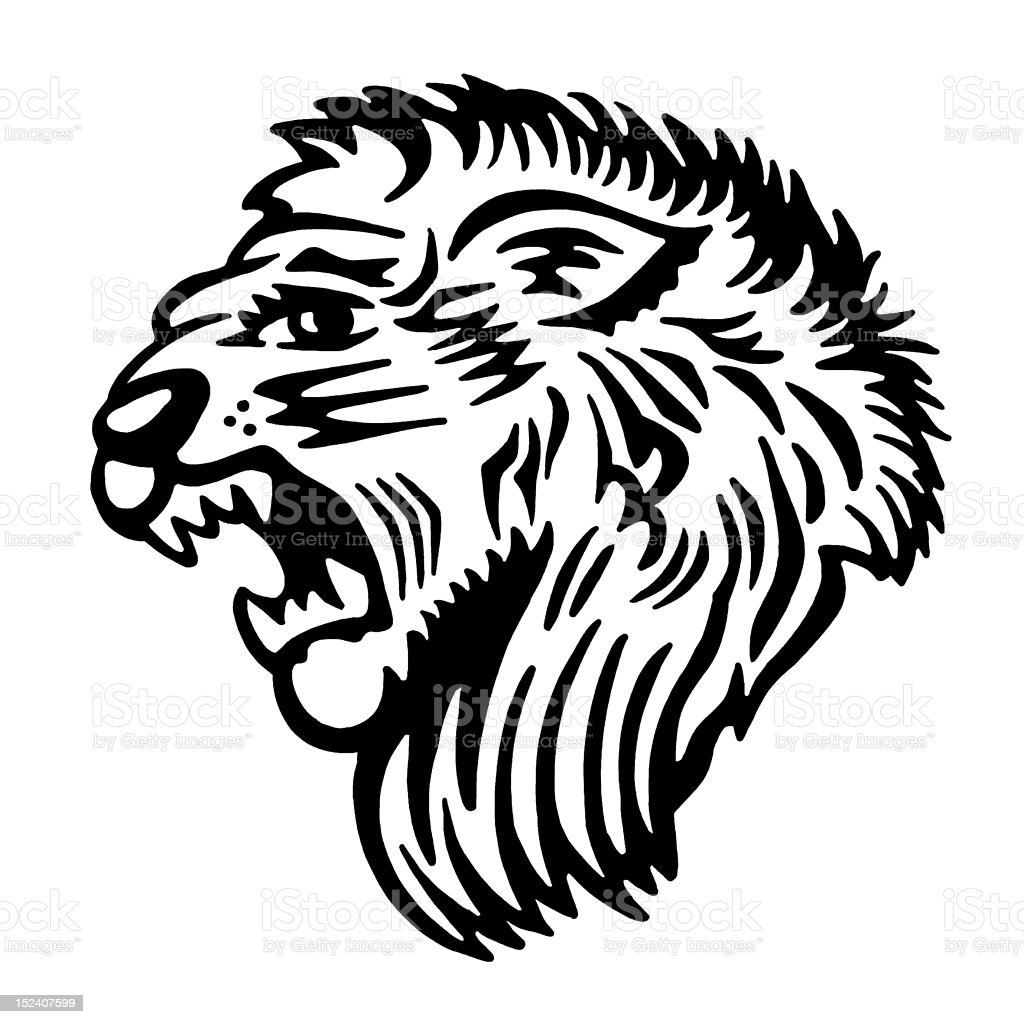 Roaring Lion royalty-free stock vector art