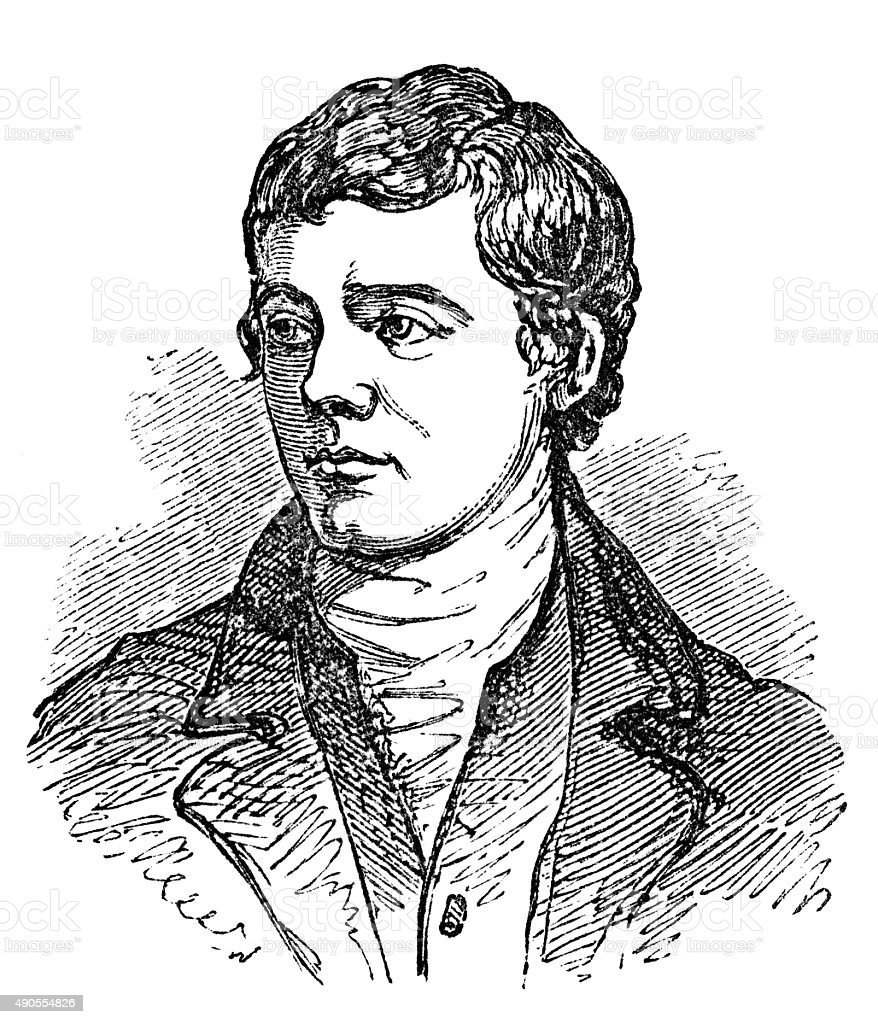 Robert Burns vector art illustration