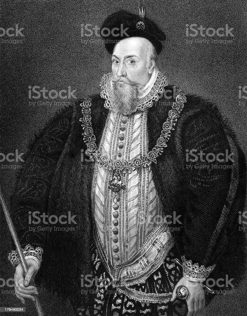 Robert Dudley, 1st Earl of Leicester vector art illustration