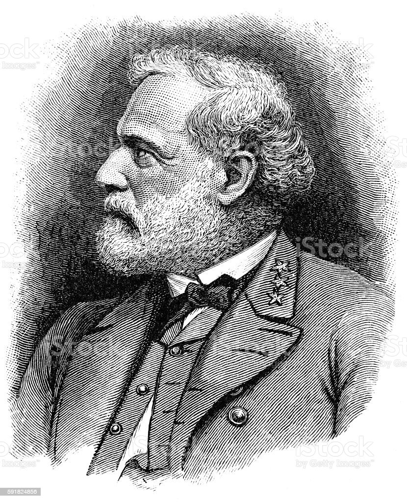 Robert E. Lee stock photo
