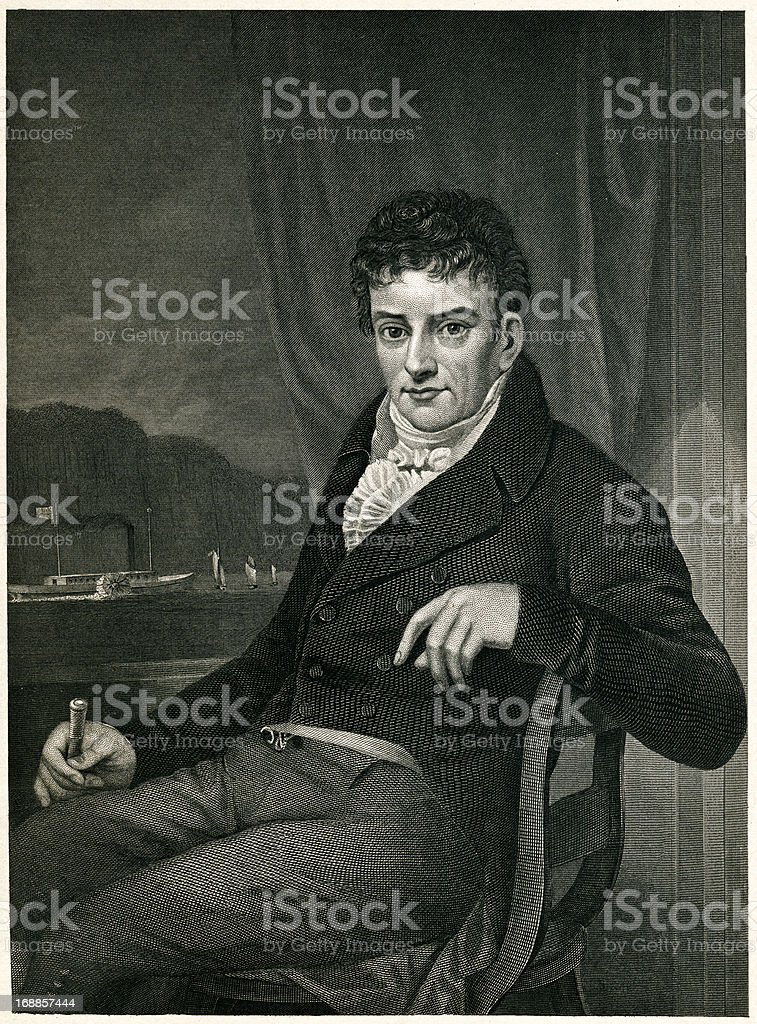 Robert Fulton royalty-free stock vector art