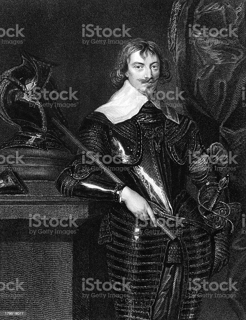 Robert Rich, 2nd Earl of Warwick royalty-free stock vector art