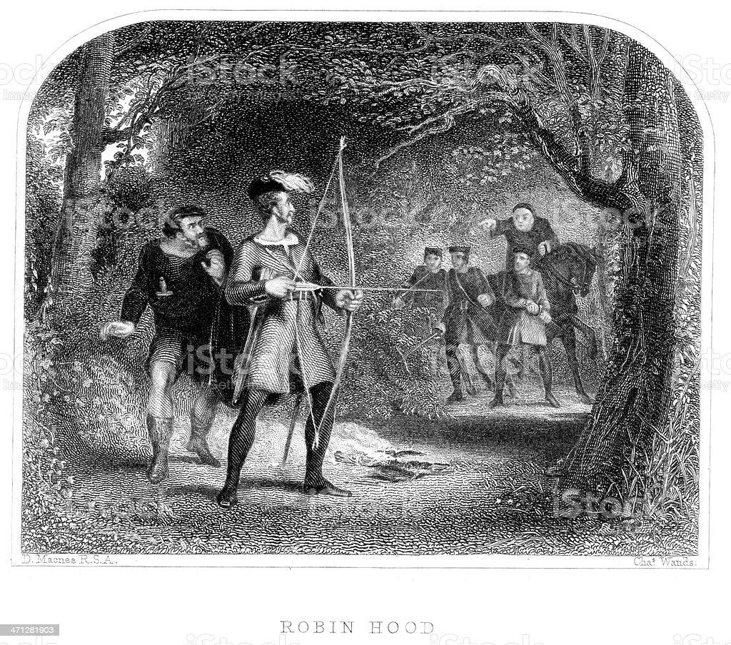 Robin Hood vector art illustration